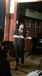 Suzette performs with Boston Comedy Chicks.