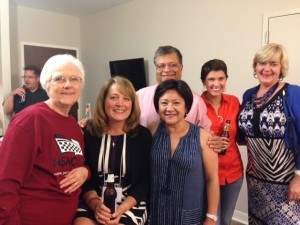 Friends in the NSNC hospitality suite