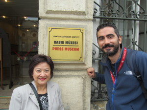 Suzette and Civan much later at the Press Museum in Istanbul